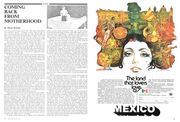 Article Preview: COMING BACK FROM MOTHERHOOD, August 1975 | Maclean's