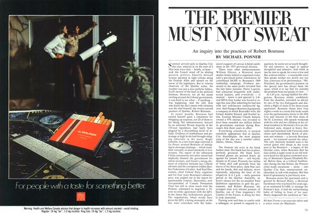 Article Preview: THE PREMIER MUST NOT SWEAT, August 1975 | Maclean's
