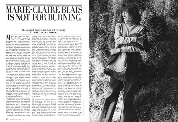 Article Preview: MARIE-CLAIRE BLAIS IS NOT FOR BURNING, September 1975 | Maclean's