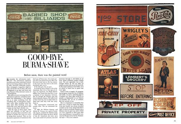 Article Preview: GOOD-BYE, BURMA-SHAVE, September 1975 | Maclean's