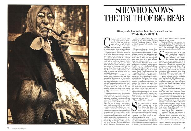 Article Preview: SHE WHO KNOWS THE TRUTH OF BIG BEAR, September 1975 | Maclean's