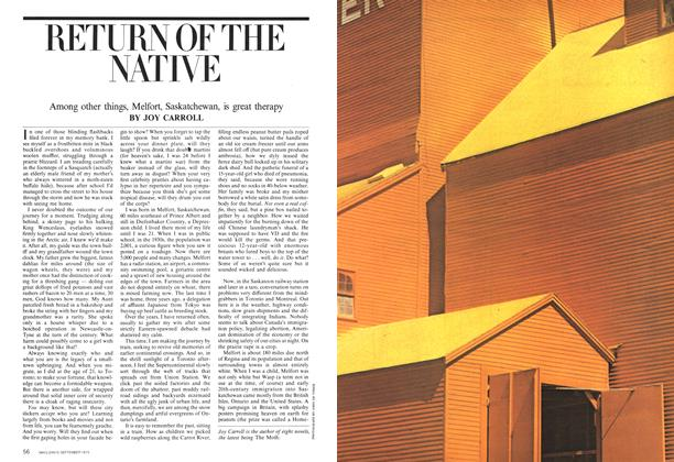 Article Preview: RETURN OF THE NATIVE, September 1975   Maclean's