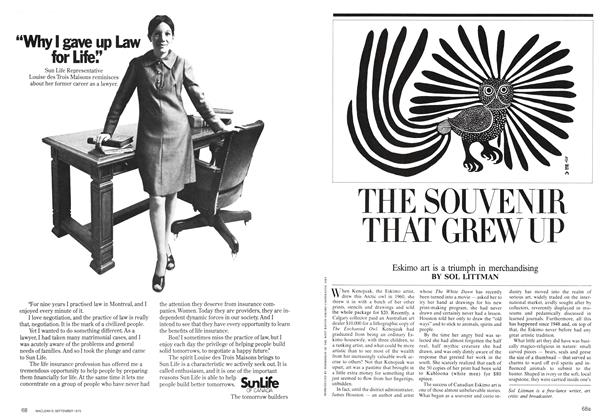 Article Preview: THE SOUVENIR THAT GREW UP, September 1975 | Maclean's