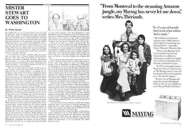 Article Preview: MISTER STEWART GOES TO WASHINGTON, September 1975 | Maclean's