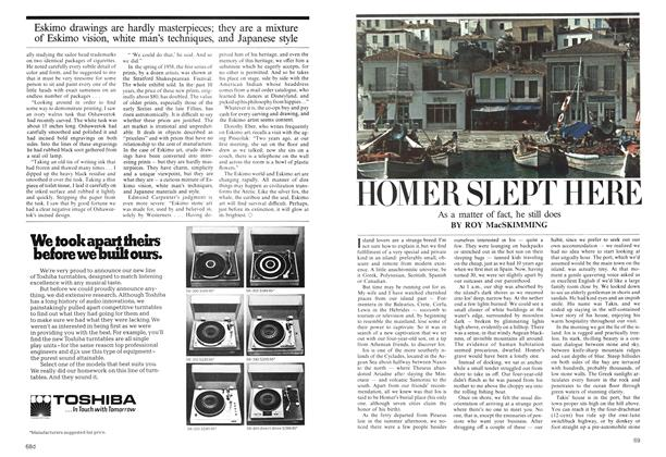 Article Preview: HOMER SLEPT HERE, September 1975 | Maclean's