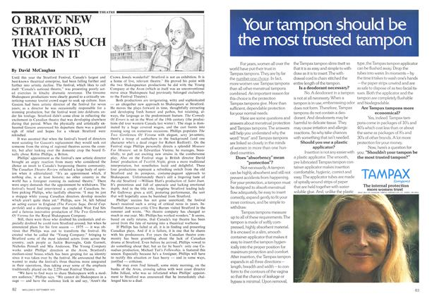 Article Preview: O BRAVE NEW STRATFORD, THAT HAS SUCH VIGOR IN IT, September 1975 | Maclean's