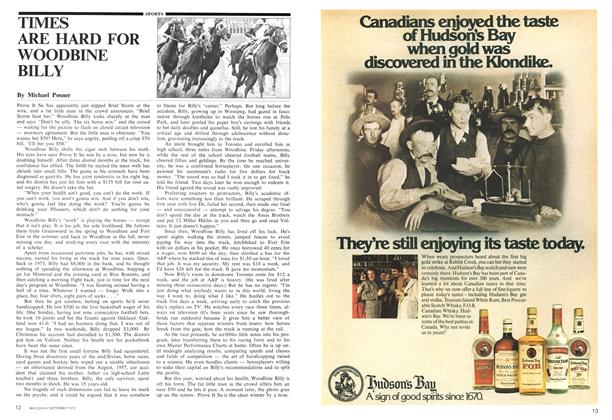 Article Preview: TIMES ARE HARD FOR WOODBINE BILLY, September 1975 | Maclean's