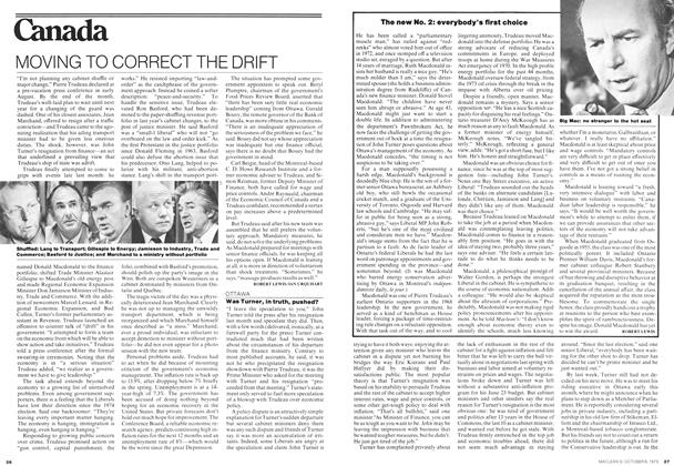 Article Preview: MOVING TO CORRECT THE DRIFT, October 1975 | Maclean's