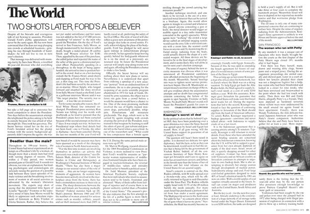 Article Preview: TWO SHOTS LATER, FORD'S A BELIEVER, October 1975 | Maclean's