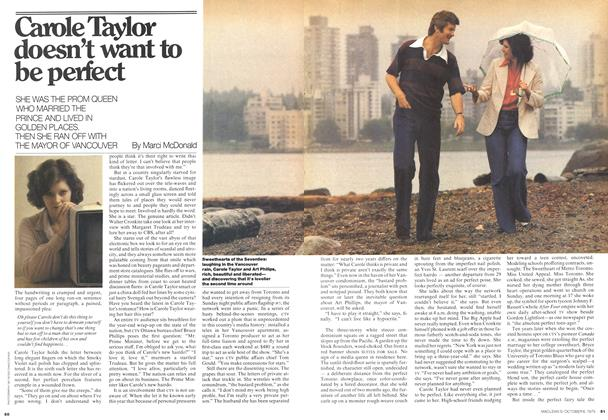 Article Preview: Carole Taylor doesn't want to be perfect, October 1975 | Maclean's