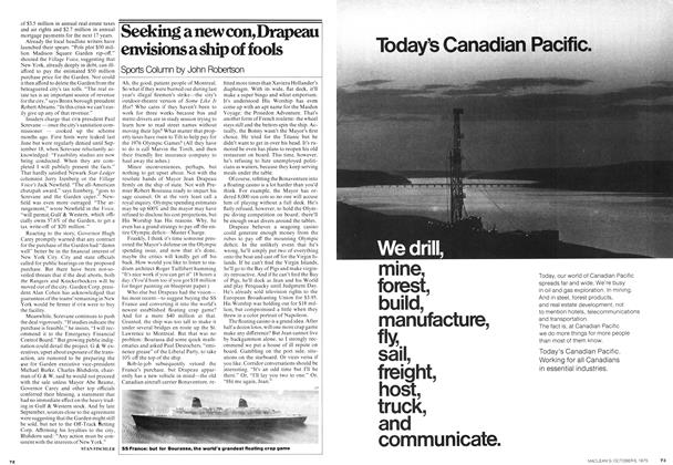 Article Preview: Seeking a new con, Drapeau envisions a ship of fools, October 1975 | Maclean's