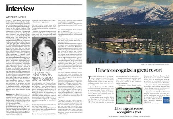 Article Preview: With INDIRA GANDHI, October 1975 | Maclean's