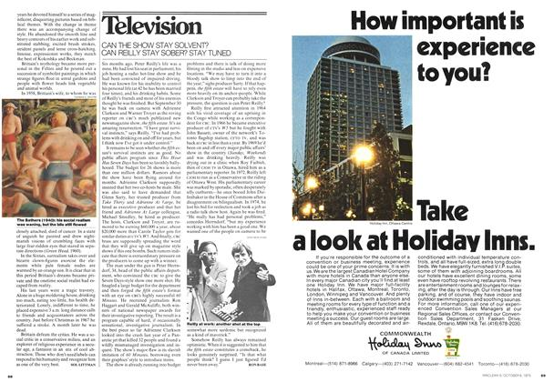 Article Preview: CAN THE SHOW STAY SOLVENT? CAN REILLY STAY SOBER? STAY TUNED, October 1975 | Maclean's