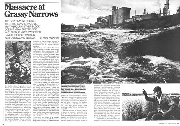 Article Preview: Massacre at Grassy Narrows, October 1975 | Maclean's
