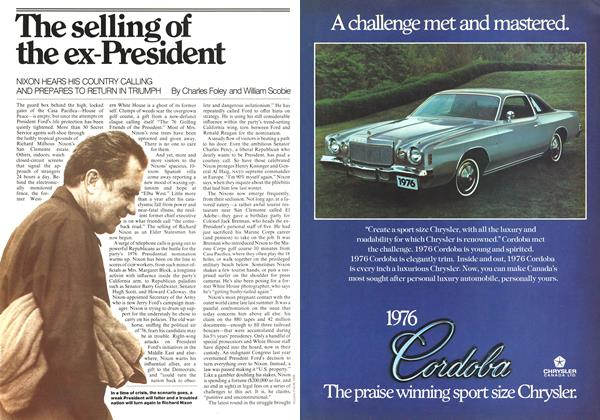Article Preview: The selling of the ex-President, October 1975 | Maclean's