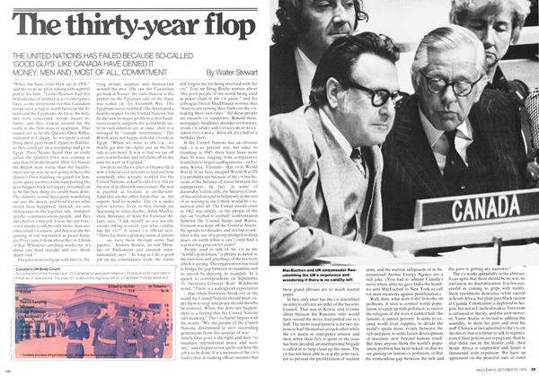 Article Preview: The thirty-year flop, October 1975 | Maclean's