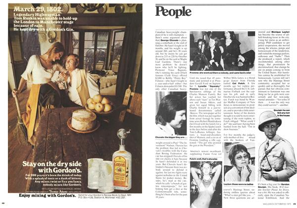 Article Preview: People, October 1975 | Maclean's