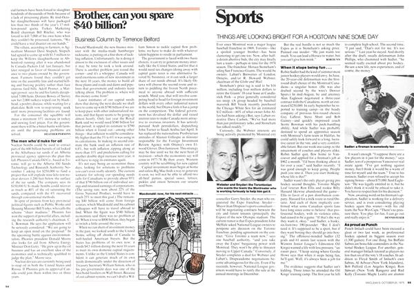 Article Preview: Sports, October 1975 | Maclean's