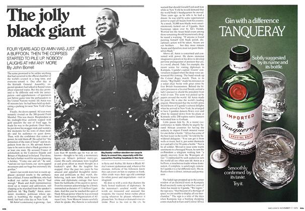 Article Preview: The jolly black giant, November 1975 | Maclean's