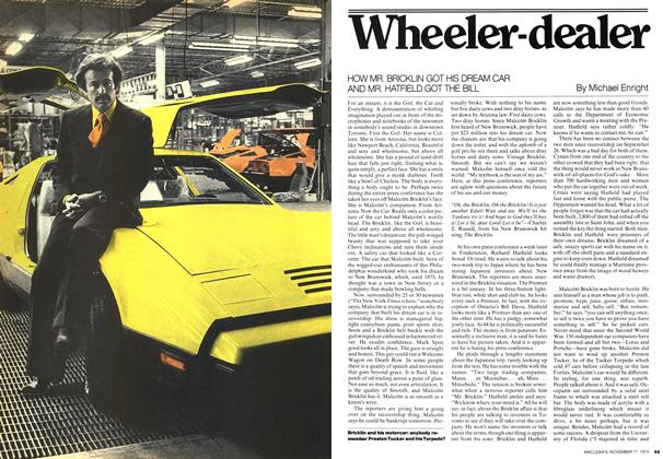 Article Preview: Wheeler-dealer, November 1975 | Maclean's