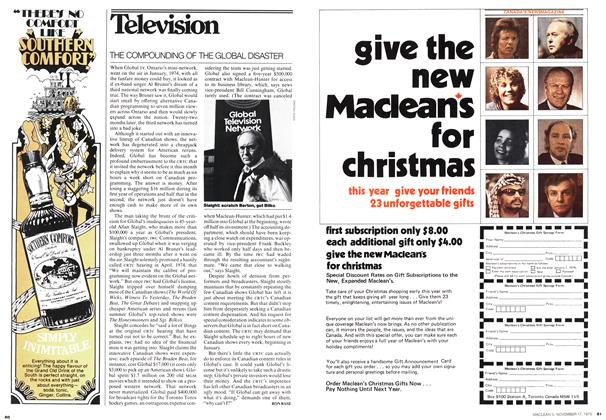 Article Preview: Television, November 1975 | Maclean's