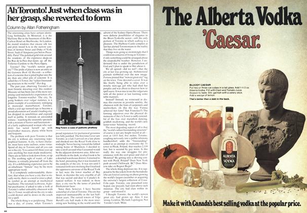 Article Preview: Ah Toronto! Just when class was in her grasp, she reverted to form, November 1975 | Maclean's