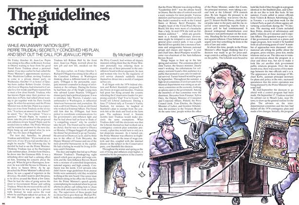 Article Preview: The guidelines script, December 1975 | Maclean's