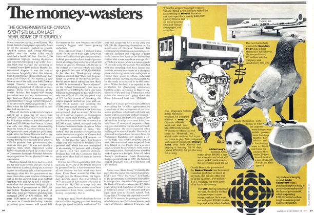 Article Preview: The money-wasters, December 1975 | Maclean's