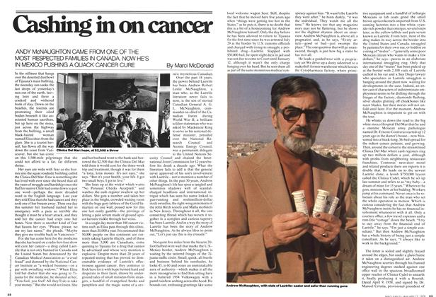 Article Preview: Cashing in on cancer, January 1976 | Maclean's