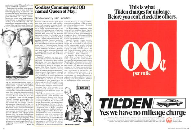 Article Preview: Godless Commies win! QB named Queen of May!, January 1976 | Maclean's