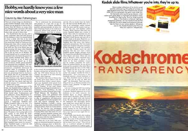 Article Preview: Bobby, we hardly knew you: a few nice words about a very nice man, February 1976 | Maclean's