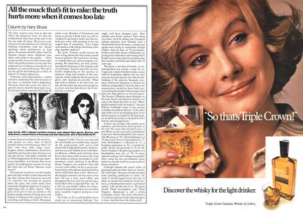 Article Preview: All the muck that's fit to rake: the truth hurts more when it comes too late, February 1976 | Maclean's
