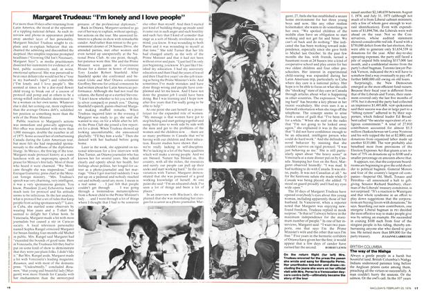 "Article Preview: Margaret Trudeau: ""I'm lonely and I love people"", February 1976 