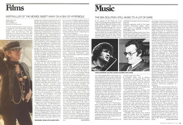Article Preview: WERTMULLER OF THE MOVIES: SWEPT AWAY ON A SEA OF HYPERBOLE, February 1976   Maclean's
