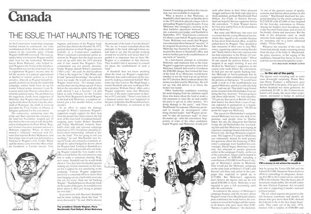 Article Preview: THE ISSUE THAT HAUNTS THE TORIES, February 1976 | Maclean's