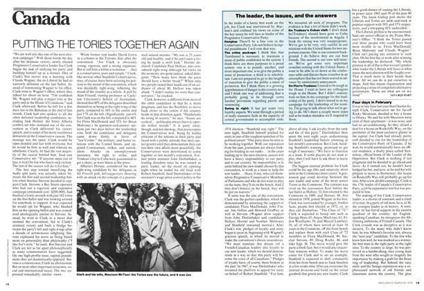 Article Preview: PUTTING THE TORIES TOGETHER AGAIN, March 1976 | Maclean's