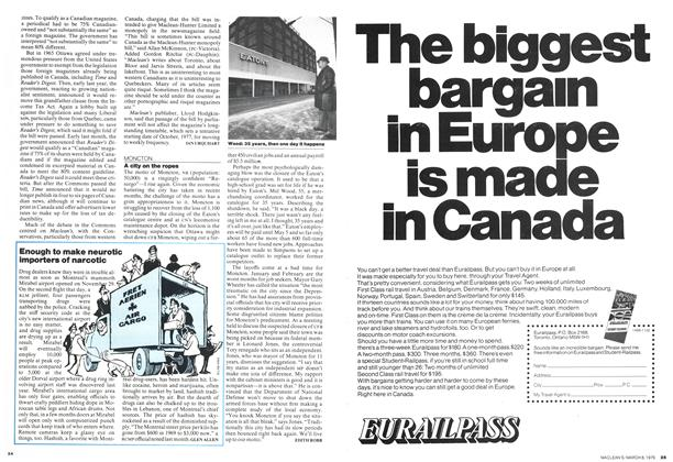 Article Preview: Enough to make neurotic importers of narcotic, March 1976 | Maclean's
