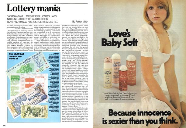 Article Preview: Lottery mania, March 1976 | Maclean's
