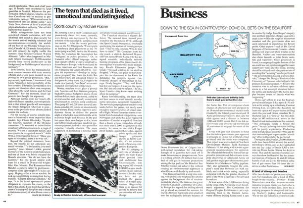 Article Preview: The team that died as it lived, unnoticed and undistinguished, March 1976 | Maclean's
