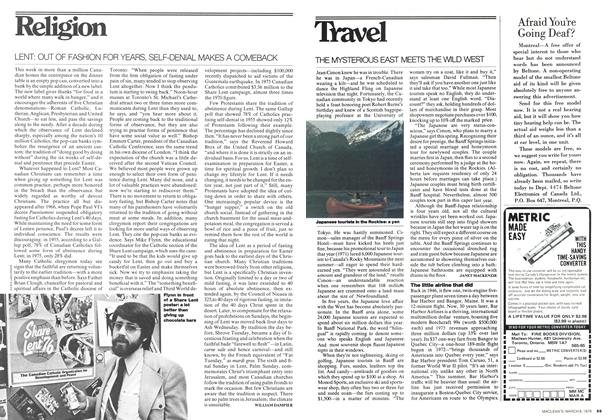 Article Preview: LENT: OUT OF FASHION FOR YEARS, SELF-DENIAL MAKES A COMEBACK, March 1976 | Maclean's