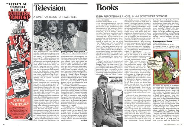 Article Preview: EVERY REPORTER HAS A NOVEL IN HIM. SOMETIMES IT GETS OUT, March 1976 | Maclean's