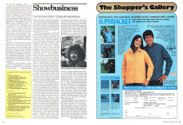 Article Preview: THE KID WHO DIDN'T CONQUER BROADWAY, March 1976 | Maclean's