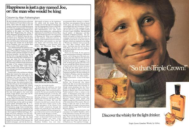Article Preview: Happiness is just a guy named Joe, or: the man who would be king, March 1976 | Maclean's