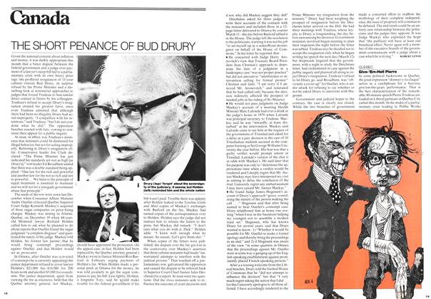 Article Preview: THE SHORT PENANCE OF BUD DRURY, March 1976 | Maclean's