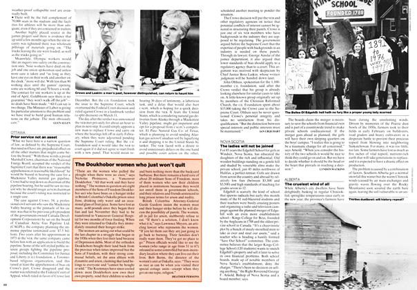 Article Preview: Prior service not an asset, March 1976 | Maclean's