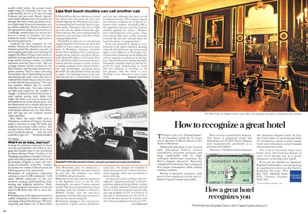 Article Preview: Lips that touch nicotine can call another cab, March 1976 | Maclean's