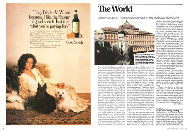 Article Preview: OTHER VOICES, OTHER ROOMS: CRACKS IN THE MOSCOW MONOLITH, March 1976 | Maclean's