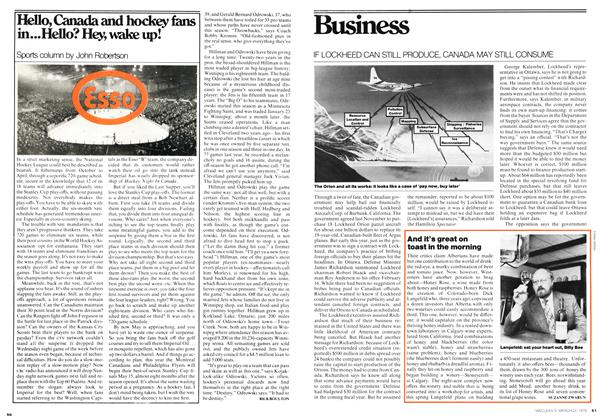 Article Preview: IF LOCKHEED CAN STILL PRODUCE, CANADA MAY STILL CONSUME, March 1976 | Maclean's