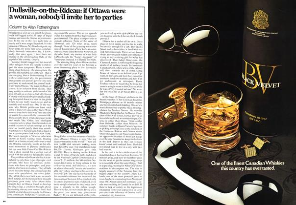 Article Preview: Dullsville-on-the-Rideau: if Ottawa were a woman, nobody'd invite her to parties, March 1976 | Maclean's