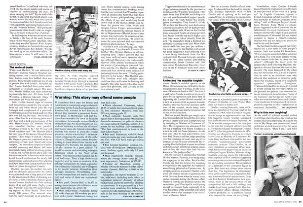 Article Preview: Warning: This story may offend some people, April 1976   Maclean's
